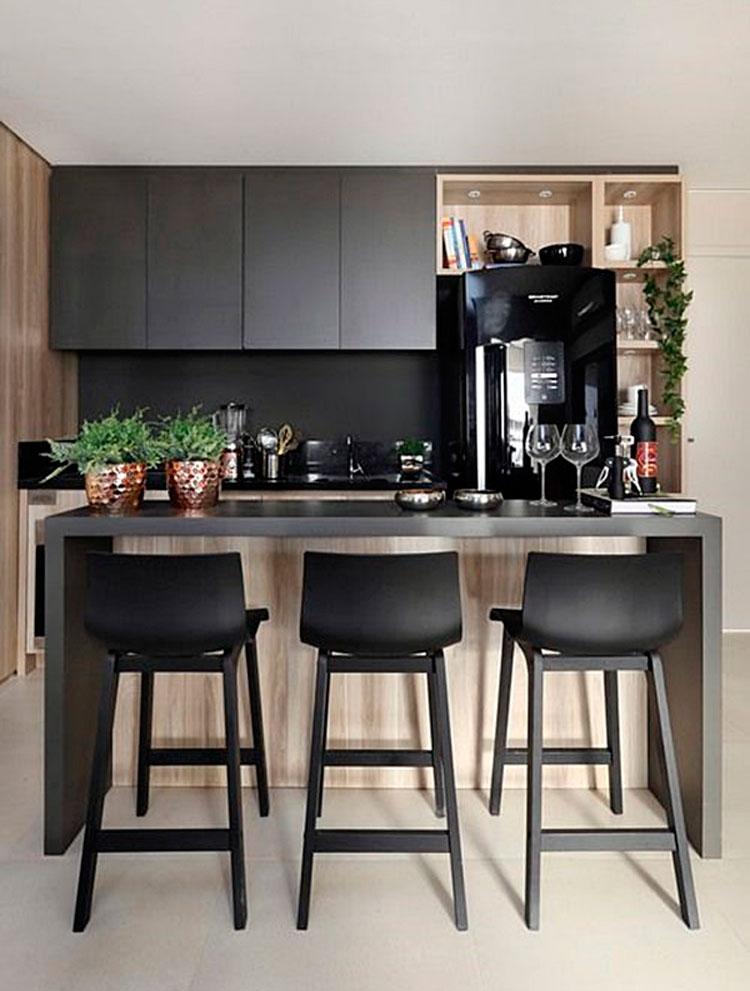 Moderno Cocina Terapia Apartamento Ilustración - Ideas Del Gabinete ...
