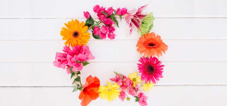 arreglos florales corona flores