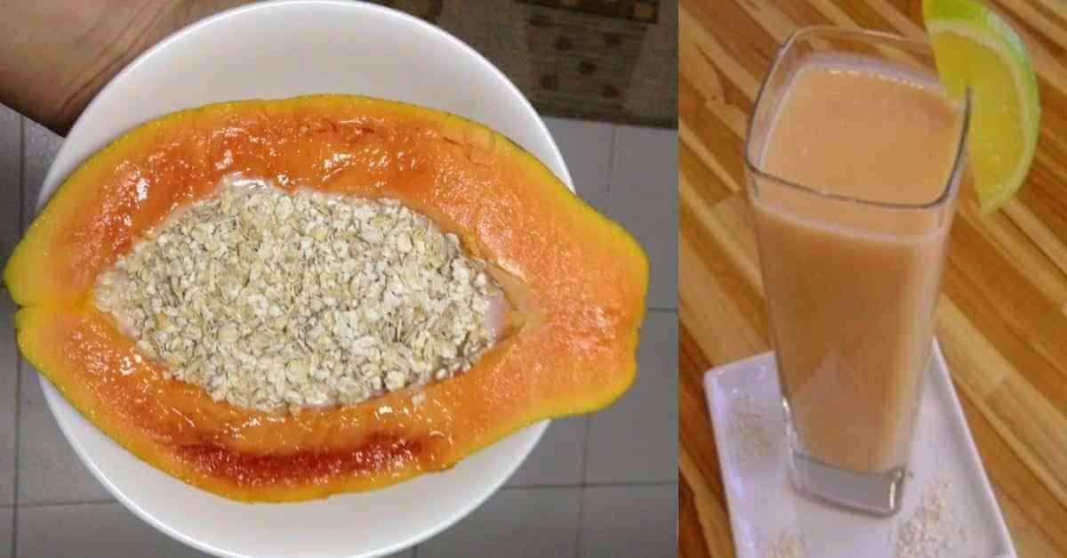 dieta de papaya con avena