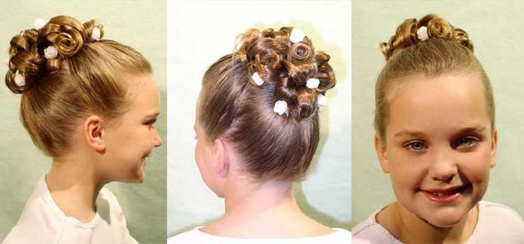 Peinados para primera comunion con ligas