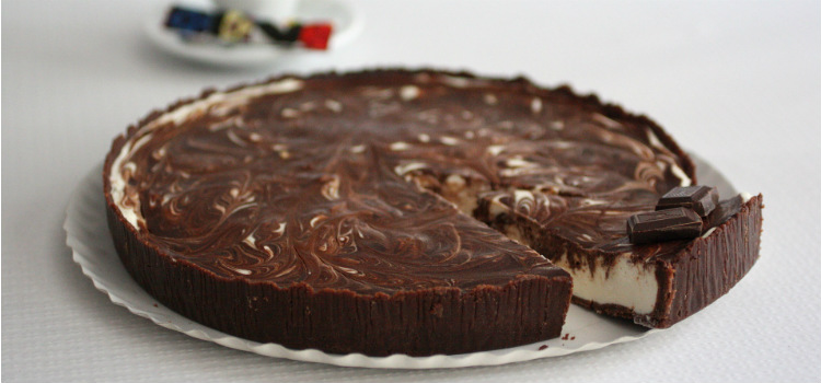 tarta de queso chocolate